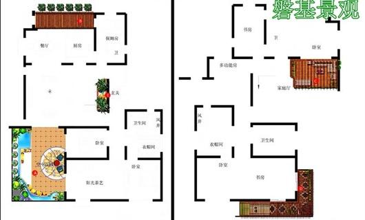 紫薇时光公园五楼阳台景观绿化设计工程