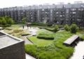 住宅景观,种植池,自行车停车棚