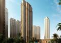 高层住宅,住宅楼,住宅景观,近水平台,水池