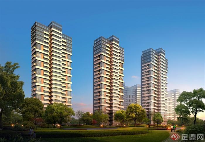 住宅楼,高层住宅,居住建筑,住宅景观
