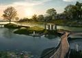住宅景觀,棧道,廊亭,植物,水體,橋,荷花