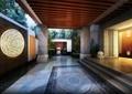 庭院,庭院景观,公馆,景墙,铺装,廊架,台阶