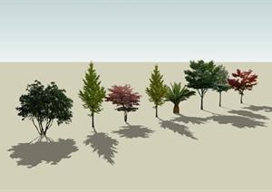 8颗景观植物SU(草图大师)模型