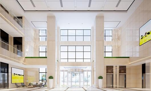 合肥某办公楼公共空间室内设计