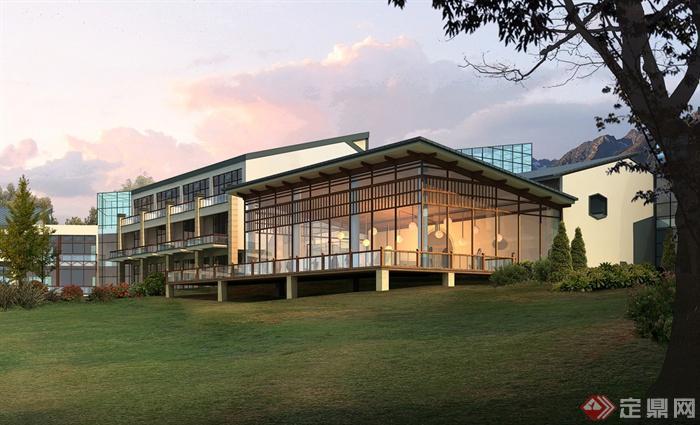 宾馆,草坪