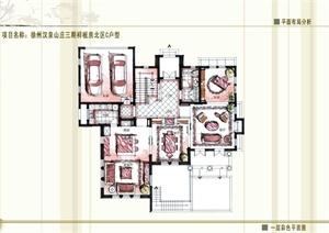 某托斯卡纳风格别墅装饰设计户型方案文本