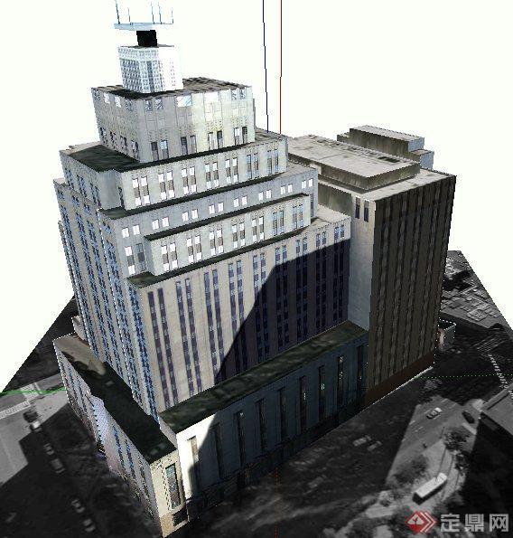 某现代广播电台建筑设计SU模型(3)