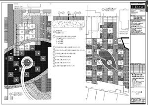 园林广场铺装样式设计PDF施工图