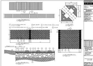 园林景观停车场植草砖铺地设计PDF施工图