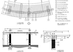 园林景观特色廊架设计PDF施工图