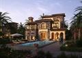 别墅景观,水池,水景,别墅建筑