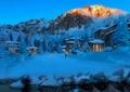別墅景觀,雪景,植物,景石