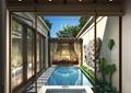別墅庭院,庭院,庭院景觀,水景