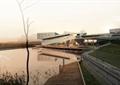 集散中心,办公楼,滨水景观