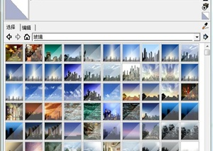 100多種玻璃效果貼圖
