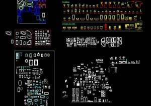 多种厨卫用具设施设计CAD平面图