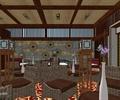 咖啡店,桌椅,花花摆件,装饰墙