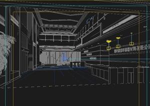 现代材料公司大厅室内设计3dmax模型