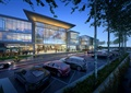 商业建筑,植物,停车场,汽车