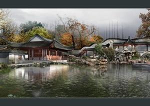 古庭院景观设计效果图
