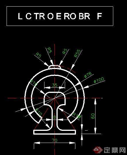 机械零件cad平面图(2)