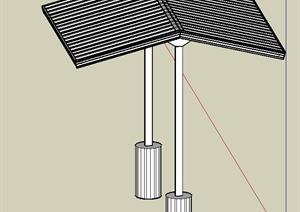 某单脚凉亭设计SU(草图大师)模型