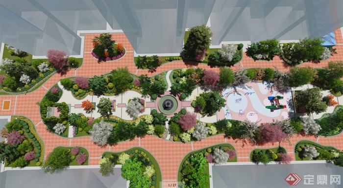 某住宅小区中心景观设计效果图(2)