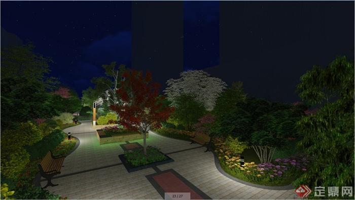 某住宅小区中心景观设计效果图(4)