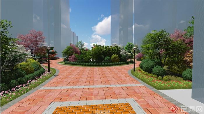 某住宅小区中心景观设计效果图(6)