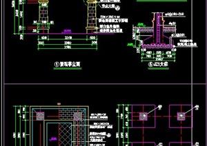现代中式凉亭施工图