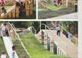 拱橋,園橋,草坪景觀,滑梯
