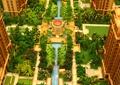 沙盘模型,小区景观,凉亭,水池,种植池