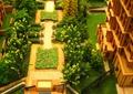 沙盘模型,住宅景观,大门,花池,铺装