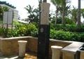 公共喷淋设备,坐凳,座墙,标志牌