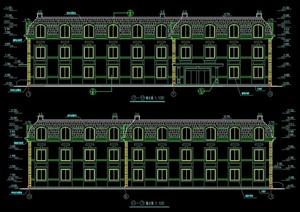 法式风格宿舍楼建筑设计施工图