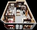 家居馆,家具展厅,床,书桌椅,书柜