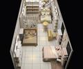 家居馆,家具陈设,床,桌椅,地砖