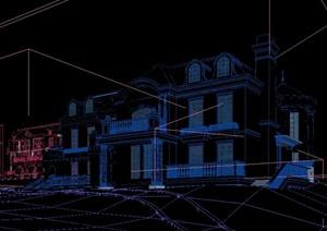某两层欧式小别墅建筑设计3DMAX模型