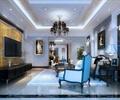 客厅,沙发,电视柜,电视,台灯,吊灯,地毯,壁灯