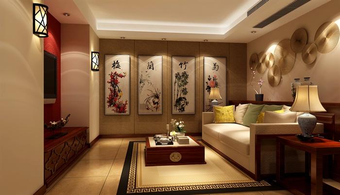 现代某三层别墅室内设计CAD施工图与SU模型(附带JPG效果图)2