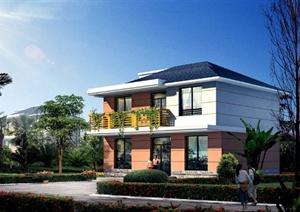 现代某两层农村村民住宅建筑设计PDF施工图