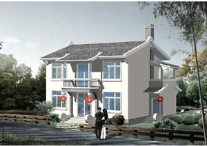 现代中式某两层乡村村民住宅建筑设计PDF施工图