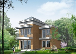 某现代两层半乡村住宅建筑设计PDF全套施工图