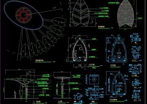 现代某广场节点景观阳光大棚设计CAD施工图