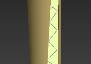 椭圆柱景观柱设计MAX模型