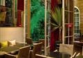 餐厅,餐桌椅,门窗,植物墙,垂直绿化