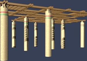 花架设计3DMAX模型