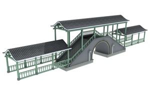 中式桥廊设计3DMAX模型
