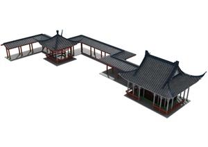 中式亭廊组合设计MAX模型