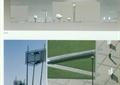 路灯,地面铺装,草坪,植物